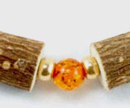 Bracelet Cheville Femmes Ambre & Noisetier - Or