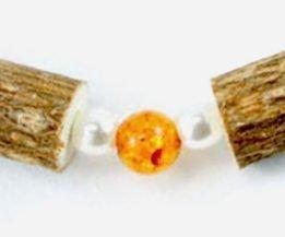 Bracelet Cheville Femmes Ambre & Noisetier - Perle