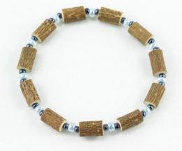 Bracelet Cheville Femmes Noisetier - Bleu pâle/Hématite