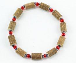 Bracelet Cheville Femmes Noisetier - Rouge/Hématite