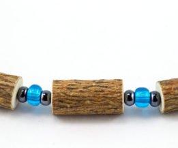 Bracelet Cheville Femmes Noisetier - Bleu clair/Hématite