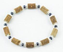 Bracelet Cheville Femmes Noisetier - Hématite/Perle