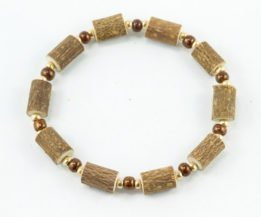 Bracelet Cheville Femmes Noisetier - Brun/Or