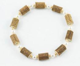 Bracelet Cheville Femmes Noisetier - Perle/Or
