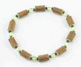Bracelet Cheville Femmes Noisetier - Vert pomme clair/Hématite