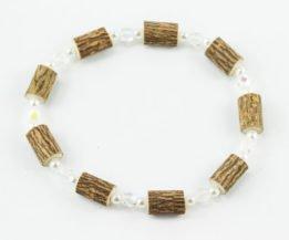 Bracelet Cheville Femmes Noisetier - Blanc clair/Perle