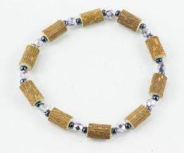 Bracelet Cheville Femmes Noisetier - Mauve métallique/Hématite