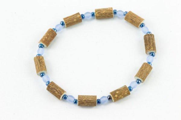Bracelet Cheville Femmes Noisetier - Bleu givré/Bleu