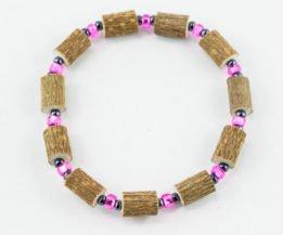 Bracelet Cheville Femmes Noisetier - Rose clair/Hématite