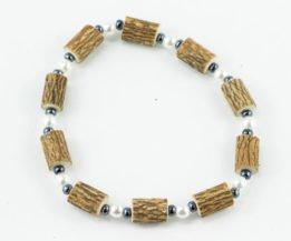 Bracelet Cheville Femmes Noisetier - Perle/Hématite