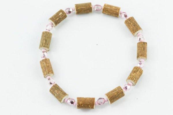 Bracelet Cheville Femmes Noisetier - Rose métallique/Rose mât