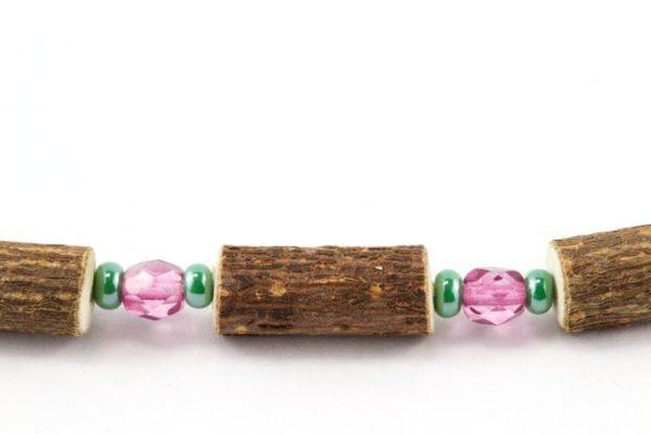 Bracelet Cheville Femmes Noisetier - Rose framboise clair/Vert menthe