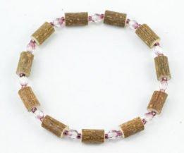 Bracelet Cheville Femmes Noisetier - Mauve clair/Mauve foncé