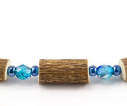 Bracelet Cheville Femmes Noisetier - Bleu métallique/Bleu