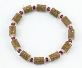 Bracelet Cheville Femmes Noisetier - Prune/Rose tendre