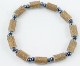 Bracelet Hommes Noisetier - 2 billes hématites