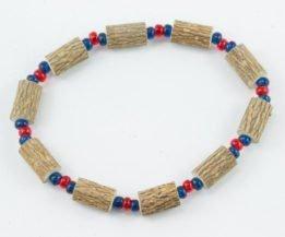 Bracelet Hommes Noisetier - Rouge/Bleu marine