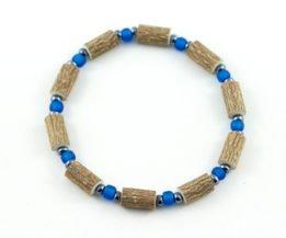 Bracelet Hommes Noisetier - Bleu roi mât/Hématite
