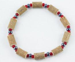 Bracelet Hommes Noisetier - Hématite/Rouge