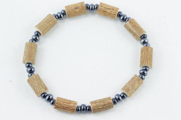Bracelet Hommes Noisetier - 3 billes hématites