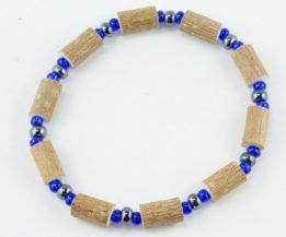 Bracelet Hommes Noisetier - Hématite/Bleu foncé