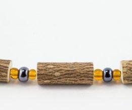 Bracelet Hommes Noisetier - Hématite/Jaune