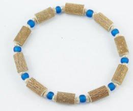 Bracelet Hommes Noisetier - Bleu mât/Blanc cassé