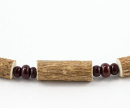 Bracelet Hommes Noisetier - 3 billes brunes