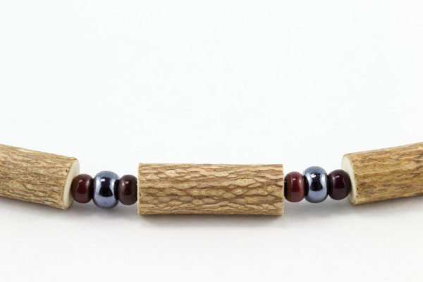 Bracelet Hommes Noisetier - Hématite/Brun