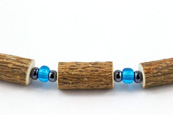 Bracelet Femmes Noisetier - Bleu clair/Hématite