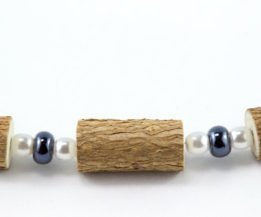 Bracelet Femmes Noisetier - Hématite/Perle