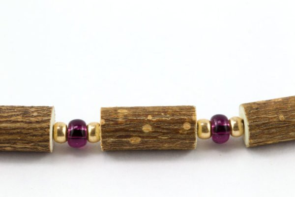 Bracelet Femmes Noisetier - Prune/Or