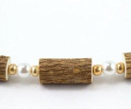 Bracelet Femmes Noisetier - Perle/Or