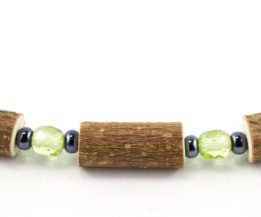 Bracelet Femmes Noisetier - Vert pomme clair/Hématite