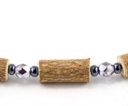 Bracelet Femmes Noisetier - Mauve métallique/Hématite