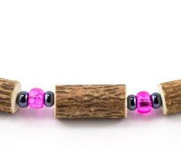 Bracelet Femmes Noisetier - Rose clair/Hématite
