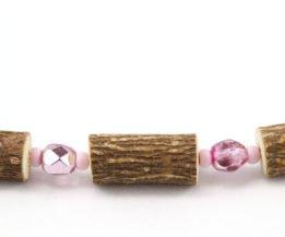 Bracelet Femmes Noisetier - Rose métallique/Rose mât