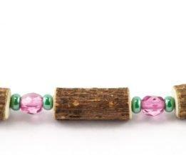 Bracelet Femmes Noisetier - Rose framboise clair/Vert