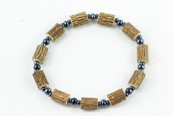 Bracelet Femmes Noisetier - 3 billes hématites
