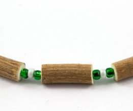 Collier Bébé Noisetier - Vert pâle mât/Vert foncé
