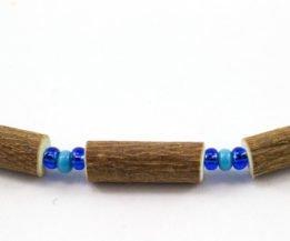 Collier Bébé Noisetier - Bleu pâle mât/Bleu roi clair