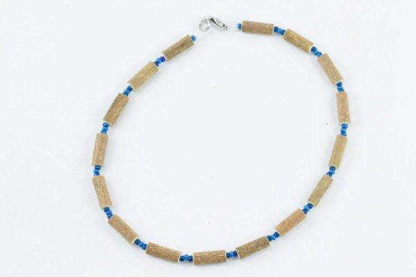 Collier Bébé Noisetier - Bleu foncé mât/Bleu marine