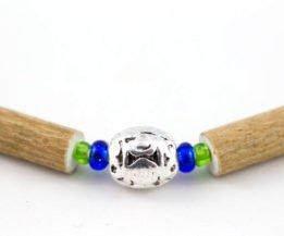 Collier Bébé Noisetier Pendentif métallique - Bleu foncé métallique/Vert pomme