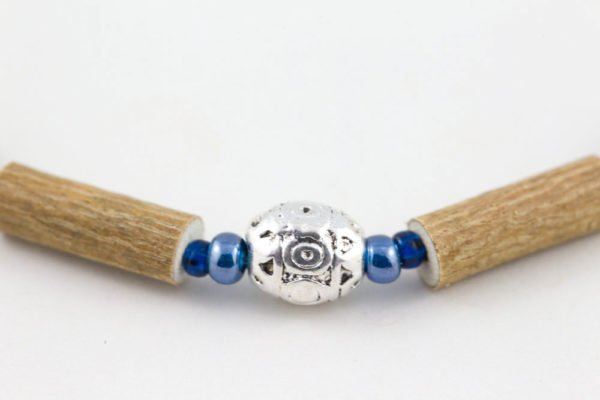 Collier Bébé Noisetier Pendentif métallique - Bleu marine/Bleu
