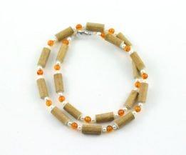 Collier Femmes Ambre & Noisetier - Perles