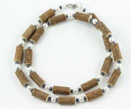 Collier Femmes Noisetier - Perle/Hématite