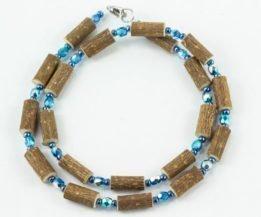 Collier Femmes Noisetier - Bleu métallique/Bleu
