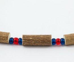 Collier Hommes Noisetier - Rouge/Bleu marine